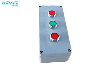 三孔铸铝按钮盒_开关控制盒_急停按钮盒_事故按钮盒