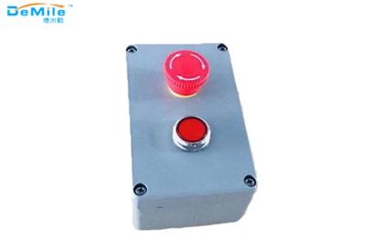 双孔铸铝按钮盒_开关控制盒_急停按钮盒_事故按钮盒
