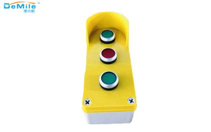三孔塑料按钮盒_开关控制盒_急停按钮盒_事故按钮盒