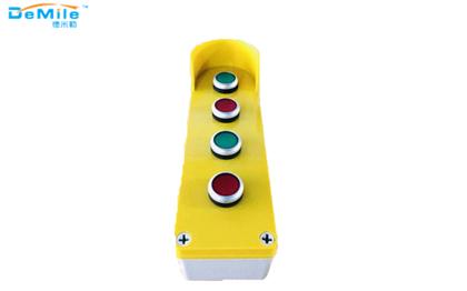 四孔塑料按钮盒_开关控制盒_急停按钮盒_事故按钮盒
